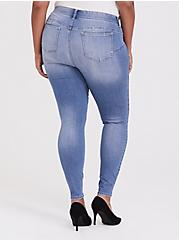 Bombshell Skinny Jean - Premium Stretch Light Wash, KINGS CROSS, alternate