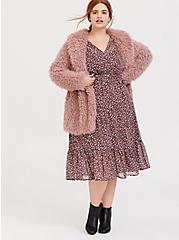 Walnut Leopard Chiffon Midi Dress, LEOPARDS-PINK, alternate