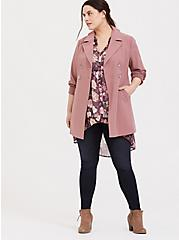 Lexie - Mauve Purple Floral Chiffon Babydoll Tunic, MULTI, alternate