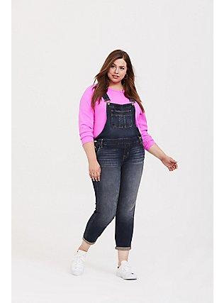 Neon Pink Pullover Raglan Sweatshirt, SUPERSONIC, alternate