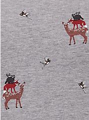 Grey Fleece Stacked Animal Raglan Sweatshirt, ANIMAL, alternate
