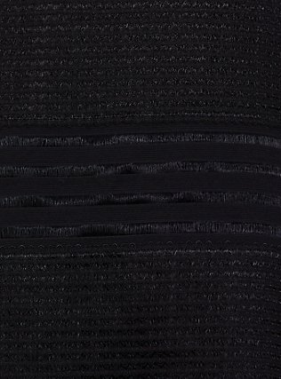 Black Illusion Neck Shadow Stripe Skater Dress, DEEP BLACK, alternate