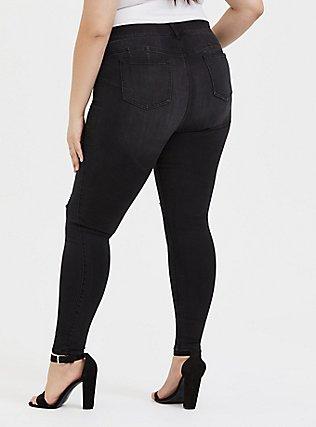 Plus Size Bombshell Skinny Jean - Premium Stretch Black Wash, COOL CAT, alternate