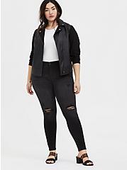 Bombshell Skinny Jean - Premium Stretch Black Wash, COOL CAT, alternate