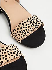 Black & Leopard Low Heel Slingback (WW), ANIMAL, alternate