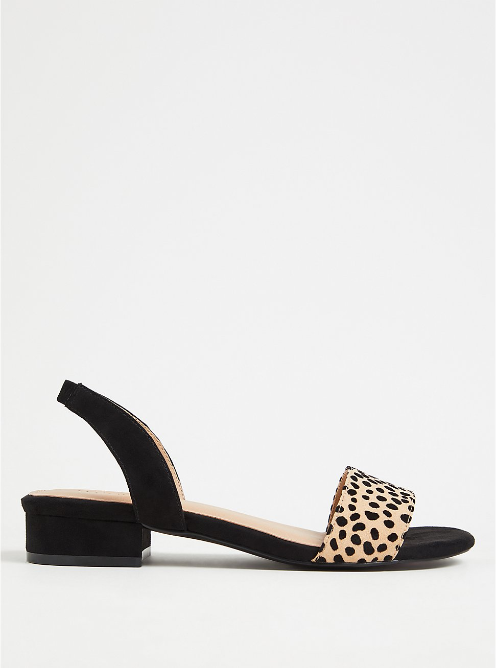 Black & Leopard Low Heel Slingback (WW), ANIMAL, hi-res