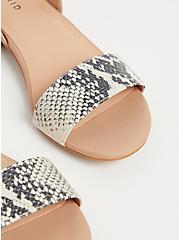 Snakeskin Print Faux Leather Low Heel Slingback (WW), , alternate