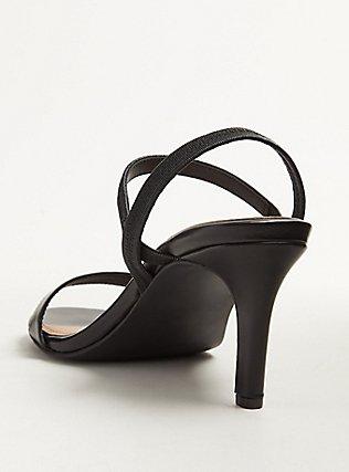 Black Faux Leather Slingback Heel (WW), BLACK, alternate