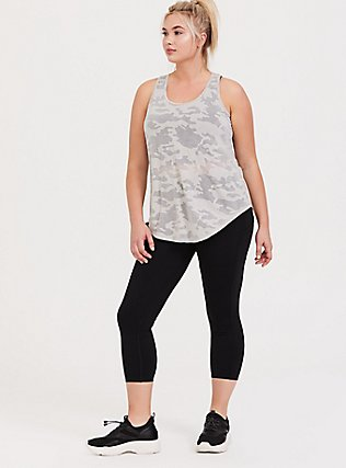 Light Grey Camo Burnout Active Tunic Tank, , alternate
