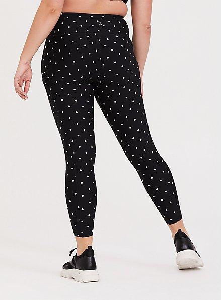Black & White Polka Dot Wicking Active Legging with Pockets, MULTI, alternate