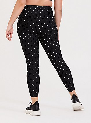 Black & White Polka Dot Wicking Active Legging with Pockets, MULTI, alternate