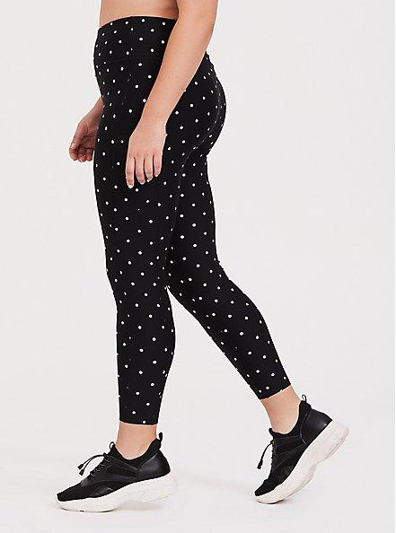 Black & White Polka Dot Wicking Active Legging with Pockets, MULTI, hi-res