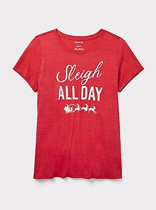 Sleigh All Day Red Slim Fit Crew Tee, JESTER RED, pdped