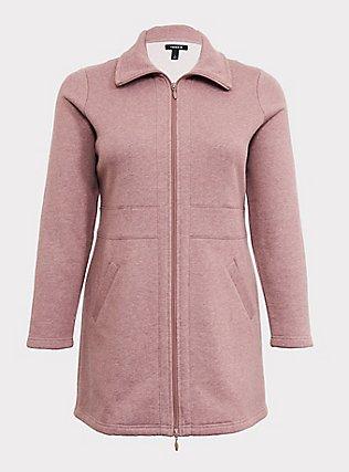 Walnut Fleece Dual Zip Jacket, DEEP DEPTHS, flat