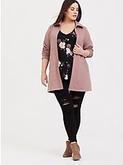 Plus Size Walnut Fleece Dual Zip Jacket, DEEP DEPTHS, hi-res