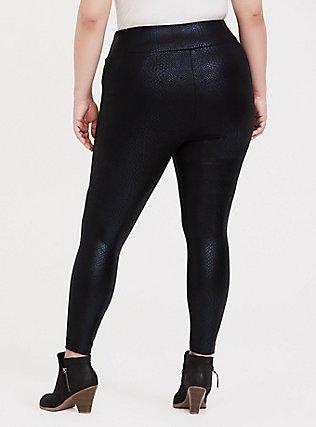 Studio Ponte Slim Fix Pixie Pant - Black Iridescent Snake Print, SNAKESKIN-BLACK, alternate