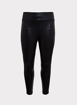 Studio Ponte Slim Fix Pixie Pant - Black Iridescent Snake Print, SNAKESKIN-BLACK, flat