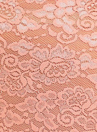 Peach Lace Cheeky Panty, PEACH MELBA, alternate