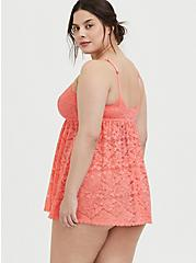 Coral Lace Babydoll, , alternate