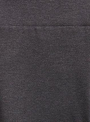 Studio Ponte Slim Fix Pull-On Pixie Pant - Fleece Lined Charcoal Grey, CHARCOAL HEATHER, alternate