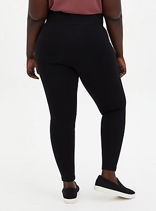 Plus Size Studio Ponte Slim Fix Pull-On Pixie Pant - Fleece Lined Black, DEEP BLACK, alternate