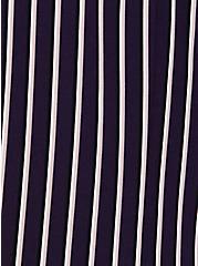 Deep Purple Pinstripe Twill Longline Blazer, STRIPES, alternate
