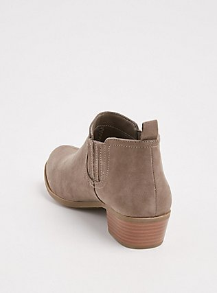 Taupe Faux Suede Chelsea Bootie (WW), TAN/BEIGE, alternate