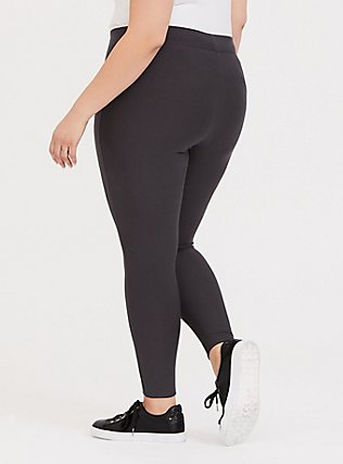 Plus Size Platinum Legging - Fleece Lined Dark Grey, GREY, alternate