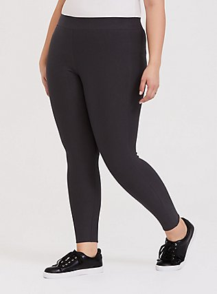 Plus Size Platinum Legging - Fleece Lined Dark Grey, GREY, hi-res