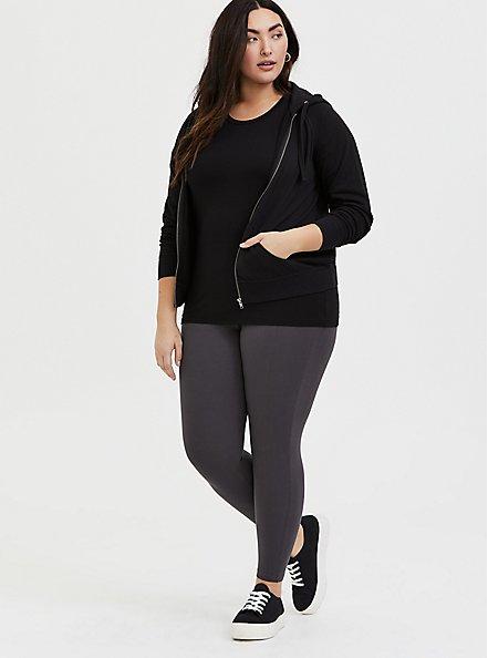 Premium Legging - Charcoal Grey, GREY, hi-res