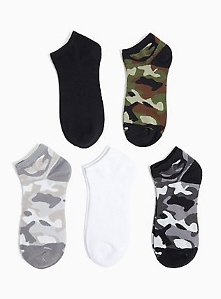 Plus Size Camo Socks Pack - Pack of 5, MULTI, alternate