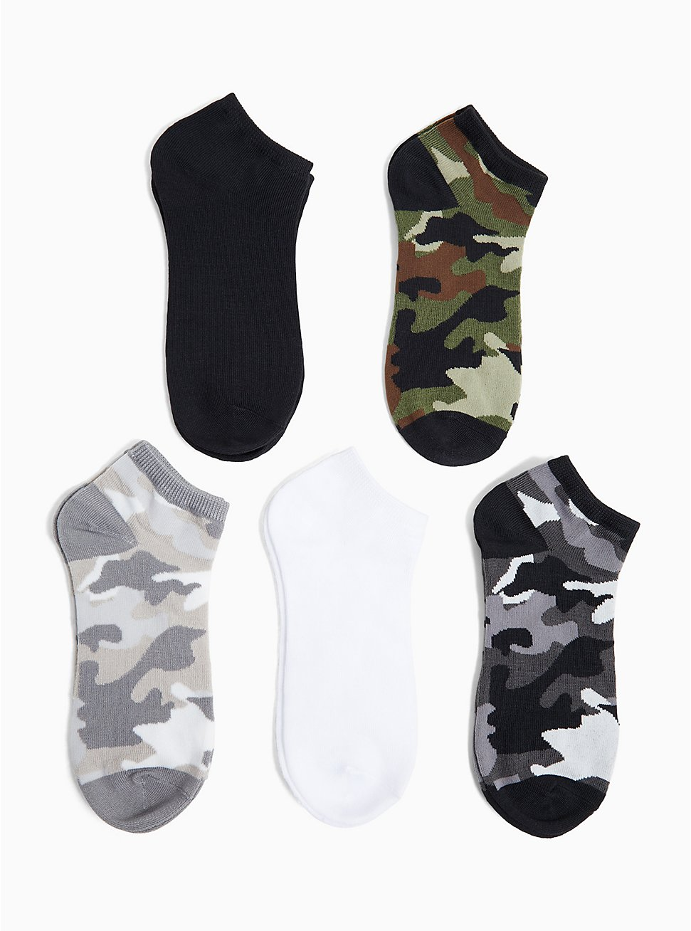 Camo Socks Pack - Pack of 5, MULTI, hi-res
