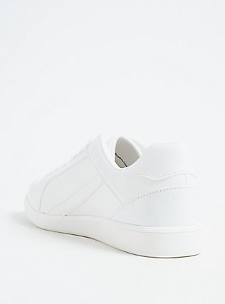 White Faux Leather Sneaker (WW), WHITE, alternate