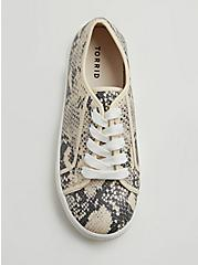 Snakeskin Print Faux Leather Lace-Up Platform Sneaker (WW), ANIMAL, alternate