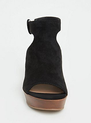 Black Faux Suede Platform Wedge (WW), BLACK, alternate