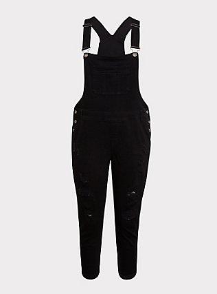 Plus Size Overall - Premium Stretch Black, BLACK, flat