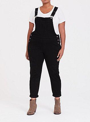 Overall - Premium Stretch Black, BLACK, hi-res