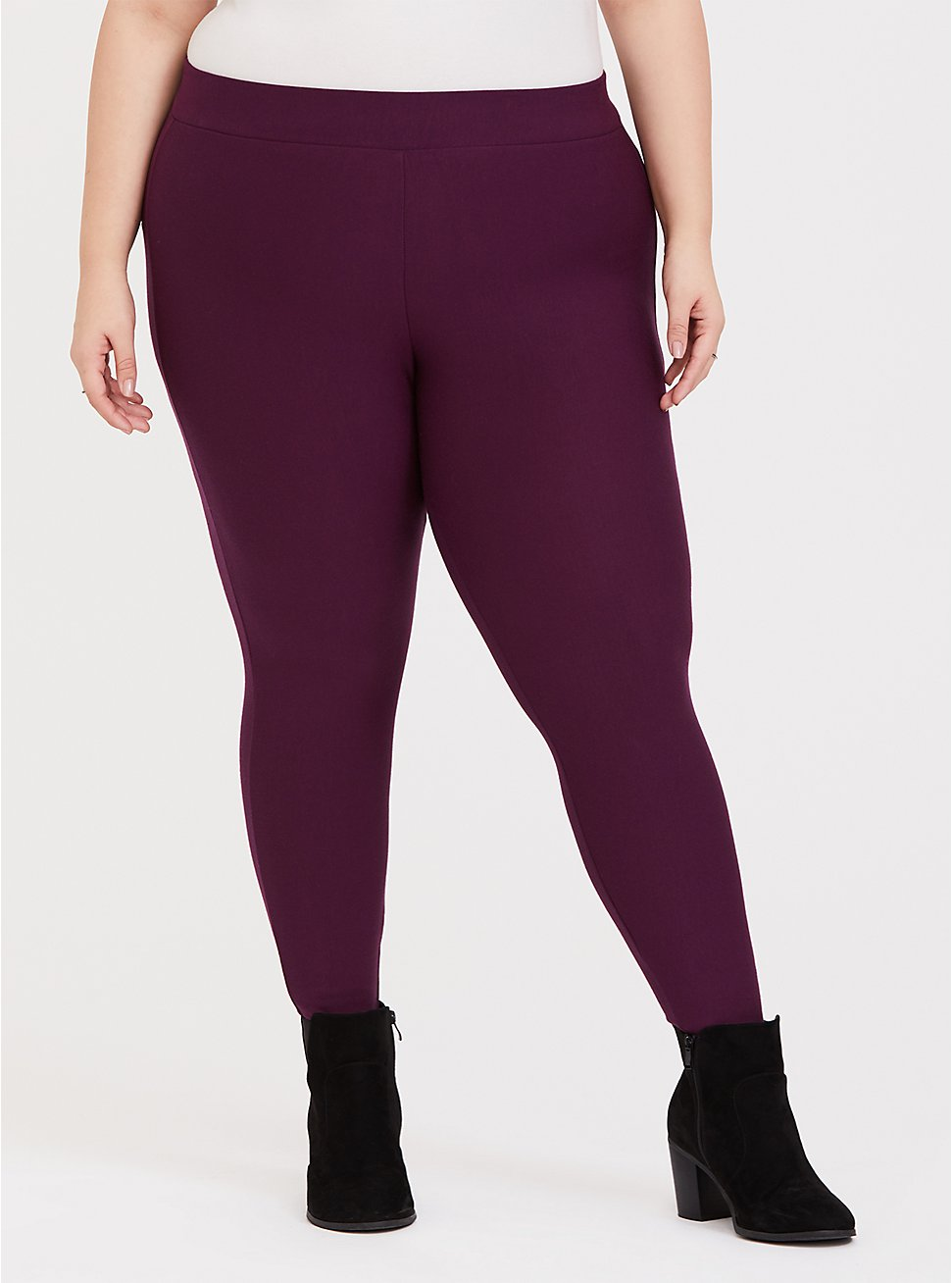 Platinum Legging - Fleece Lined Burgundy Purple, PURPLE, hi-res