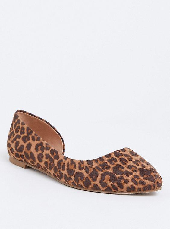 Leopard D'Orsay Flat (Wide width), , hi-res