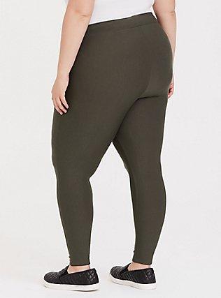 Platinum Legging - Fleece Lined Olive Green, , alternate