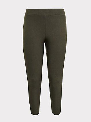 Platinum Legging - Fleece Lined Olive Green, , flat