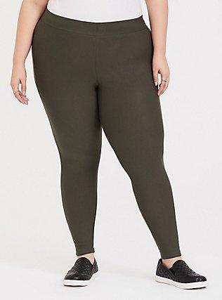 Platinum Legging - Fleece Lined Olive Green, , hi-res