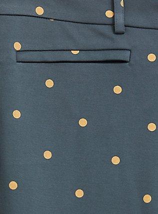 Premium Ponte Skinny Pant - Green & Gold Dot, , alternate