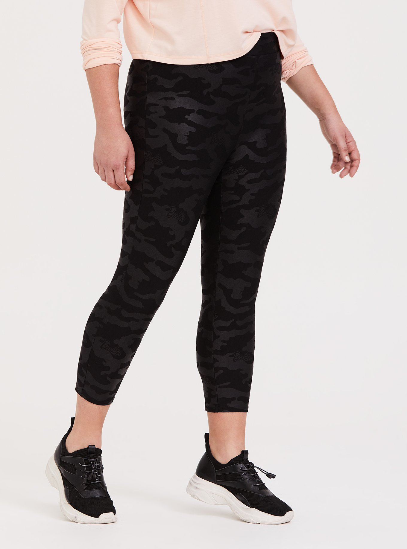 Barbie Black Camo Crop Legging by Torrid