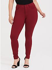 Studio Premium Ponte Stretch Skinny Pant - Dark Red, BIKING RED, alternate