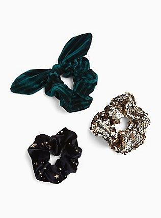 Plus Size Velvet Hair Tie Pack - Pack of 3, , hi-res