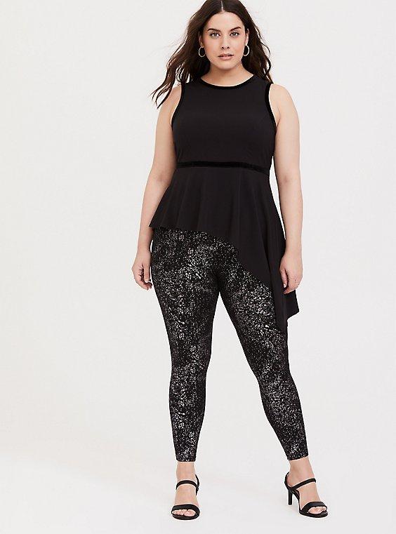 Premium Legging - Metallic Splatter Black, BLACK, hi-res