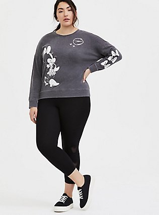 Plus Size Disney Minnie Mouse Charcoal Grey Sweatshirt, CHARCOAL HEATHER, alternate