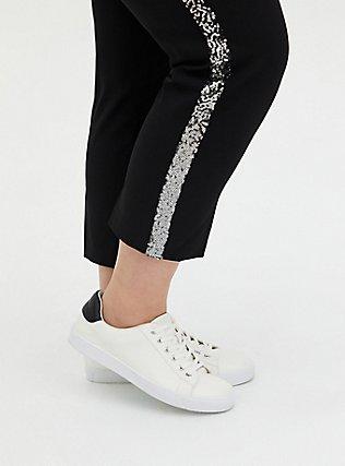 Sky High Trouser - Black & Ombre Sequin, DEEP BLACK, alternate