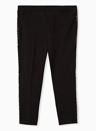 Sky High Trouser - Black & Ombre Sequin, DEEP BLACK, flat